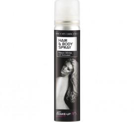 Spray Pintura cuerpo y cabello Fluorescente Blanco de 75 ml