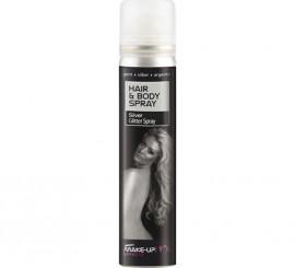 Spray Pintura Cuerpo y Cabello Purpurina color Plata