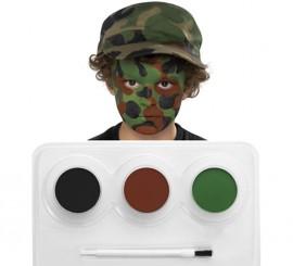 Kit Maquillage à l'eau Camouflage de 3 coloris