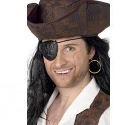 Parche Pirata de Plástico y Pendiente