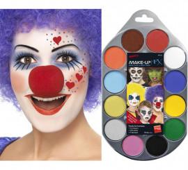 Paleta de maquillaje al agua 12 colores