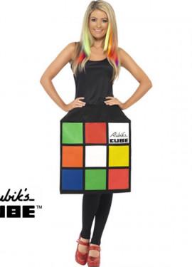 Disfraz de Cubo de Rubik 3D para Mujer