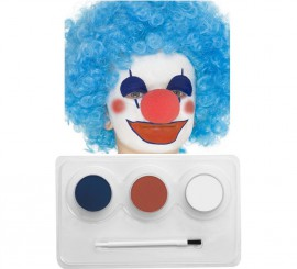 Kit Maquillage à l'eau Clown et Drapeau de 3 coloris