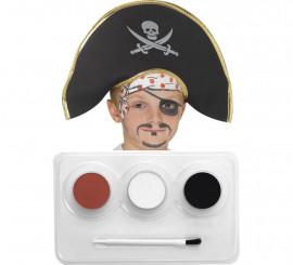 Kit de Maquillage à l'eau pour Pirate 3 couleurs