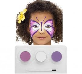 Kit Maquillage à l'eau Papillon de 3 coloris