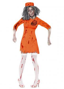 Disfraz Presa Condenada a Muerte Zombie para Mujer