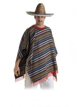 Poncho Mexicano para adultos