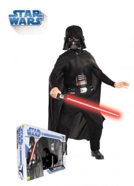Déguisement Darth Vader enfants plusieurs tailles avec épée