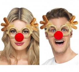 Gafas de Rodolfo el Reno para Navidad