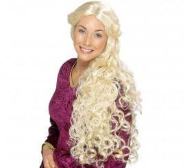 Perruque Blonde Longue de la Renaissance