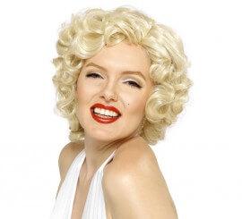 Peluca Deluxe de Marilyn Monroe Rizada Rubia