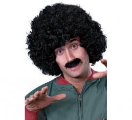 Perruque Afro avec moustache Scouser Homme