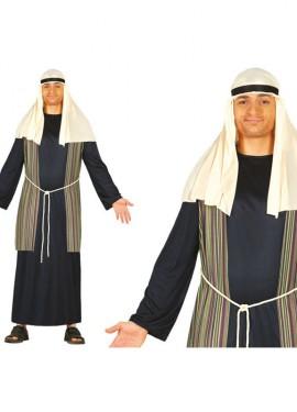 Disfraz de Pastor Hebreo azul de hombre para Navidad