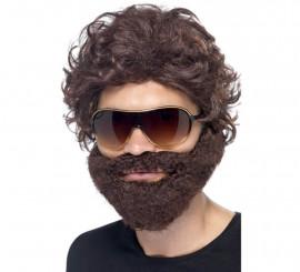 Kit de Resacón: Peluca, Barba con Bigote y Gafas de Sol