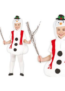 Costume da pupazzo di neve per bambini