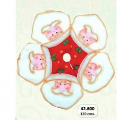 Pie para el Árbol de Navidad de 120 cm. Papa Noel