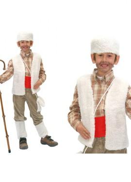 Disfraz barato de Pastor 7-9 años niño de Navidad