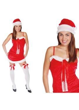 Conjunto o disfraz de Mama Noel sexy para mujer