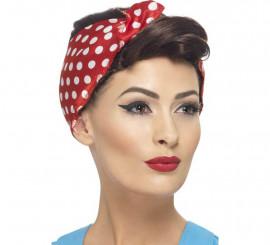 Peluca y Pañuelo Chica de Fábrica de los Años 40 para Mujer
