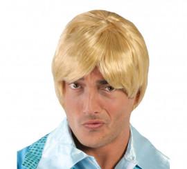 Peluca hombre rubia de pelo corto