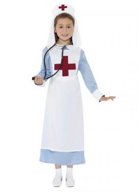 Disfraz Enfermera de la 1ª GM para Niñas