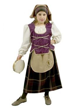 Disfraz para niñas de Pastora Violeta Rústica Delux exclusivo de Disfrazzes