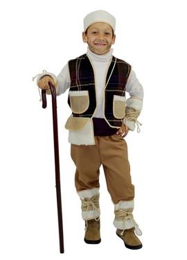 Disfraz de Pastor Violeta Rústico para niños exclusivo de Disfrazzes