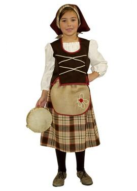 Disfraz para niñas de Pastora Marrón Rústica Deluxe exclusivo de Disfrazzes