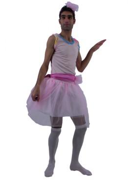 Disfraz de Bailarina Tutú Rosa ZZ para adultos