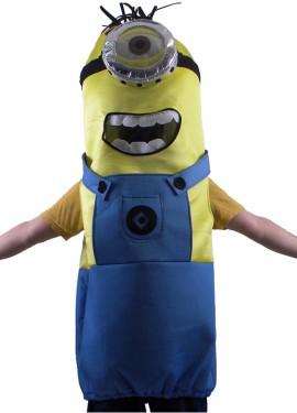 Disfraz de Cápsula Amarilla con un ojo para adultos