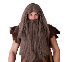Peluca y barba de Vikingo