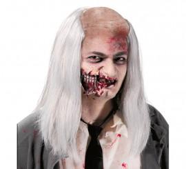 Perruque chauve de zombie avec cheveux