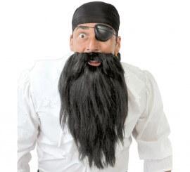 Conjunto de Pirata Malvado con parche y barba