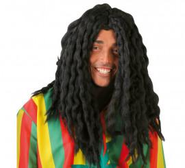 Peluca Jamaicano de Rastafari negra con rastas