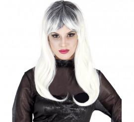 Perruque Blanche de Zombie pour Halloween