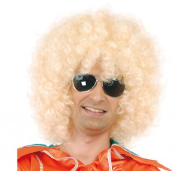 Perruque Hippie Blonde Afro Extra