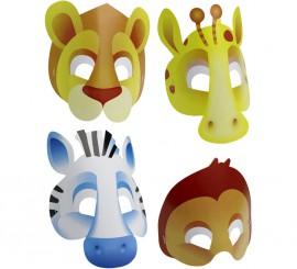 Blister de 8 Máscaras de Safari  de cartón