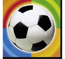 Bolsa de 16 Servilletas Championship Soccer de 33x33 cm