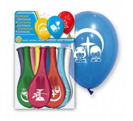 Bolsa de 10 globos de la Primera Comunión de colores