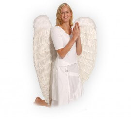 Alas de Ángel gigantes de plumas blancas de 120x120 cm