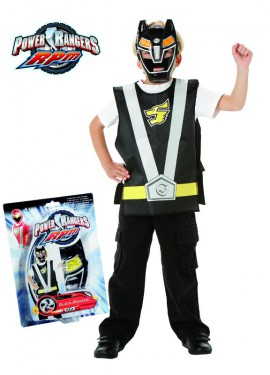 Disfraz de Power Ranger negro Action para niño de 5 a 7 años