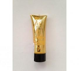 Tubo de maquillaje fluido fijo de color Amarillo de 20 ml.