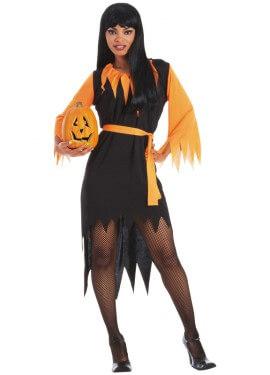 Disfraz de Bruja Calabaza mujer para Hallowee