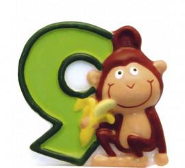 Vela de Animal del Safari con el número 9