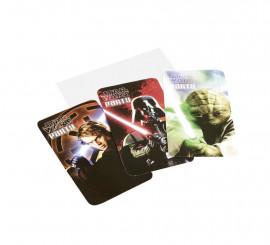 Bolsa de 6 Invitaciones de Star Wars con sobres