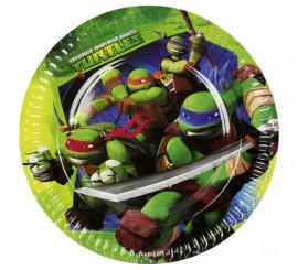 Pack de 8 Platos de las Tortugas Ninja Mutantes de 23 cm