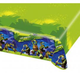 Mantel de las Tortugas Ninja Mutantes 120x180 cm de plástico