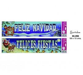 Adhesivas Felicitación navideña de 59x15 cms.