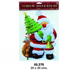 Décoration adhésive Père Noël 23x20 cm