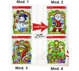 Figuras electroestáticas decorarión Navidad 20x30